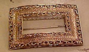 Goldtone Art Nouveau Sash Pin (Image1)