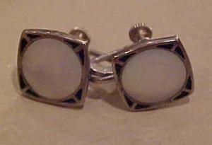 Enamel and Mother of Pearl earrings (Image1)