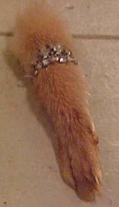 Fur paw pin with rhinestones (Image1)