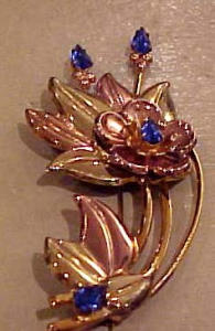 gf 1940's retro flower pin (Image1)