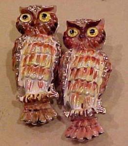 Coro Owl Duette with Enameling & Rhinestones (Image1)