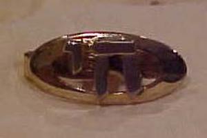Jewish Chai Tie Bar (Image1)