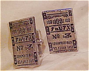 Hollywood Park cufflinks - 1957 (Image1)