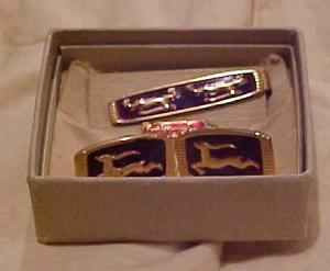 Anson Art Deco cufflins and tie bar (Image1)
