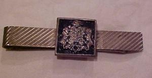 Jewish themed  tie bar - sterling (Image1)