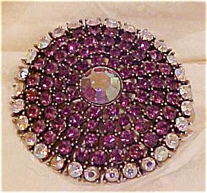 Purple  & AB rhinestone pin (Image1)