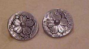 Hand Hammered Aluminum earrings (Image1)
