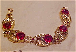 1940's retro leaf design bracelet (Image1)