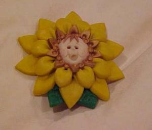 Anne Geddes Sunflower Child Pin