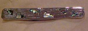 Sterling tie bar with abalone shell (Image1)
