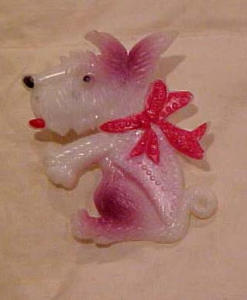 Celluloid terrier dog pin (Image1)
