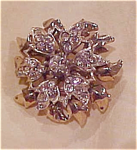 1940's vermeil flower pin (Image1)