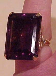 Gold filled Amethyst glass ring (Image1)