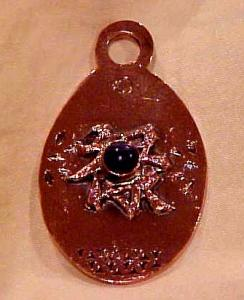 Copper charm with stone (Image1)