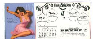 Earl Moran December 1952 Christmas theme blotter card (Image1)