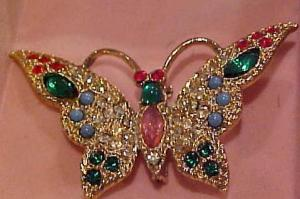 Rhinestone Butterfly pin in Box (Image1)
