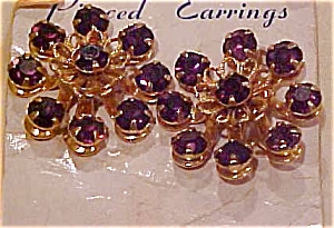 Lavendar rhinestone earrings (Image1)