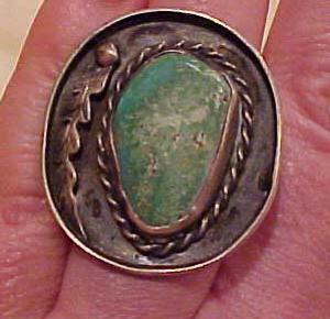 Native american ring sterling turquoise (Image1)