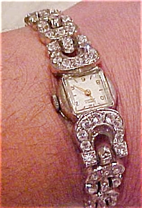 Cornell 17 jewel watch with rhinestones (Image1)