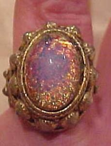 1970's ring w/faux moonstone (Image1)
