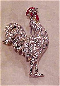 Rhinestone rooster brooch (Image1)