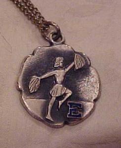 Cheerleader pendant on necklace (Image1)