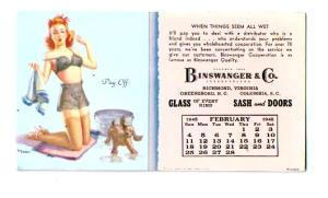 Art Frahill February 1945 Blotter Card