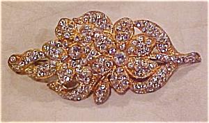 1920's rhinestone flower pin (Image1)