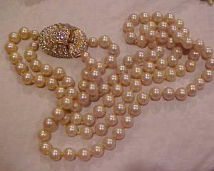 KJL Laguna Pearls w/rhinestone clasp (Image1)