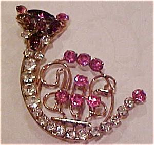 Rhinestone cat pin (Image1)