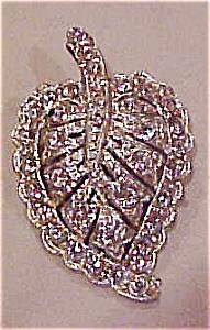 Rhinestone leaf dress clip (Image1)