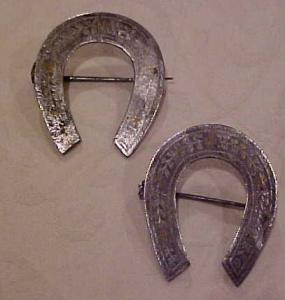 1850's steel w/gold horseshoe pin (Image1)