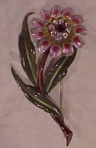 Enameled Flower termbler pin (Image1)
