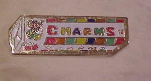 Charms candy advertising pin (Image1)