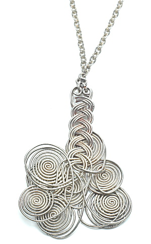 Modern Design Silver necklace-Book Piece (Image1)