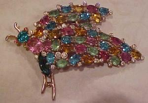 Corocraft Bug pin w/ multi color rhinestones (Image1)