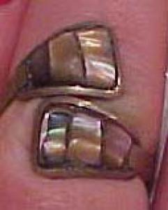 Mexican sterling abalone ring (Image1)