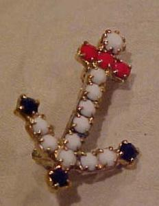 Red, white & Blue anchor pin (Image1)