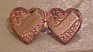 Victorian Double Heart Pin