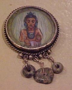 Lobito sterling pin with dangles (Image1)