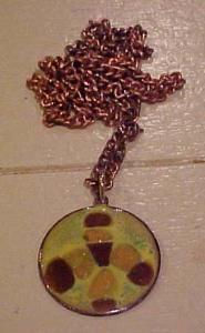 1960's copper and enamel pendant (Image1)
