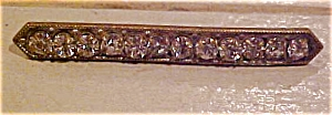 Bar pin with rhinestones (Image1)
