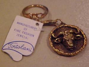 Tortolani keychain with tag - Taurus (Image1)