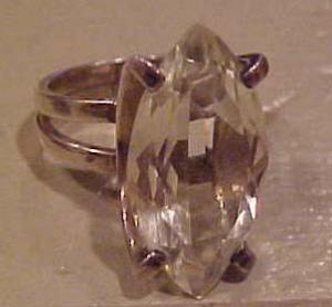 Sterling silver ring with citrine glass (Image1)