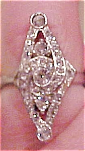 Sterling art deco rhinestone ring (Image1)