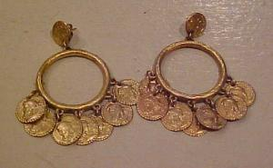 1960's coin earrings (Image1)