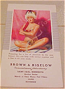 Earl Moran pinup notepad cover 1955 (Image1)