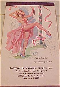 Elliott Pinup notepad 1950 (Image1)