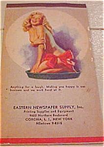 Earl Moran pinup notepad 1949 (Image1)