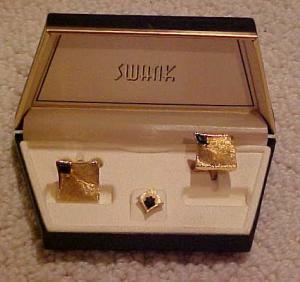 Swank boxed cufflink & tie tack set (Image1)